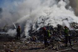 Fire of a garbage dump in Zabrze | Photo: KM PSP W Zabrzu