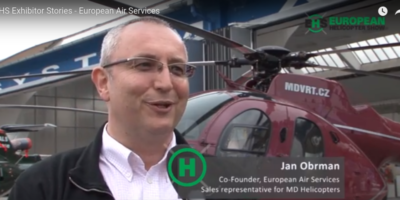 Jan Obrman explains the advantages of MD helicopters in an EAS ad. Source: Youtube