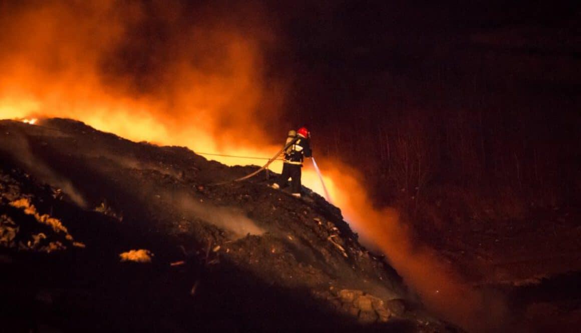 Waste disposal site fire in Jastrzębie-Zdrój | KMP Jastrzębie