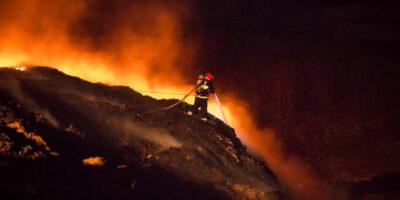 Waste disposal site fire in Jastrzębie-Zdrój   KMP Jastrzębie