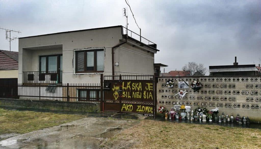 The house of Ján Kuciak and Martina Kušnírová