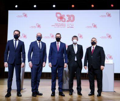 Szczyt Szefow Rzadow Panstw Grupy Wyszehradzkiej z okazji 30-lecia Wspolpracy Wyszehradzkiej