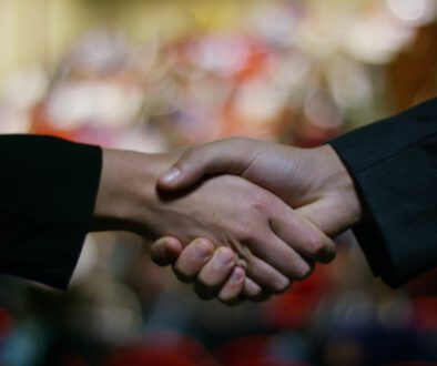 Two,Businessmen,Or,Politicians,,Elegant,Clothes,,Shake,Hands,After,Finding