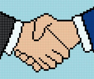 Business,Handshake,Icon,In,Pixel,Art