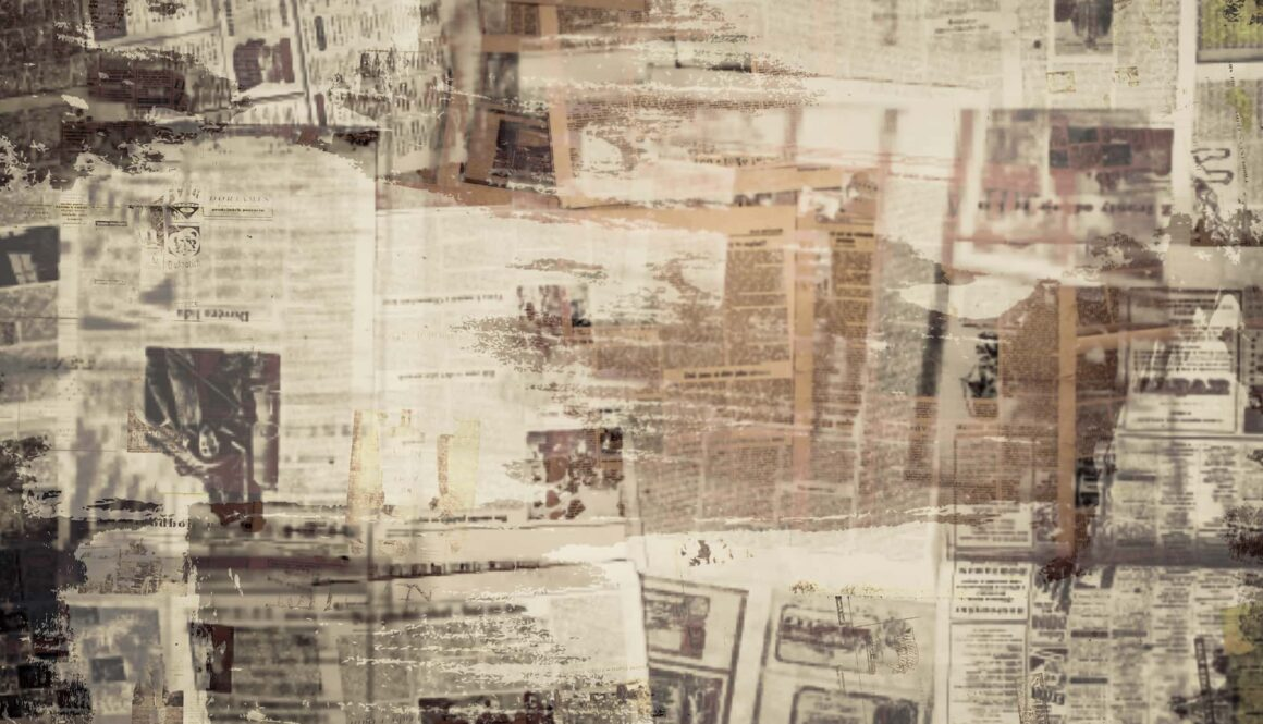 Scratched,Paper,Texture,,Old,Newspaper,Background