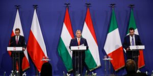 Hungary's PM Orban, Poland's PM Morawiecki and Italy's League party leader Salvini meet in Budapest